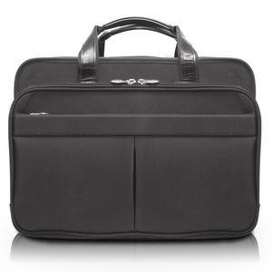 McKlein S Series Edgefield 17 Leather Roll Top Laptop Briefcase